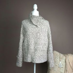 Topshop Chunky Knit Marled Oversized Sweater A1